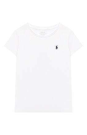 Детская хлопковая футболка POLO RALPH LAUREN белого цвета, арт. 312833549 | Фото 1