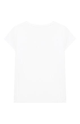 Детская хлопковая футболка POLO RALPH LAUREN белого цвета, арт. 312833549 | Фото 2