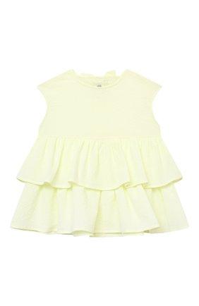 Детское хлопковая блузка IL GUFO желтого цвета, арт. P21CA007C0053/2A-4A | Фото 1