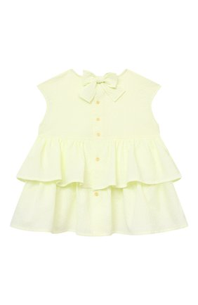 Детское хлопковая блузка IL GUFO желтого цвета, арт. P21CA007C0053/2A-4A | Фото 2