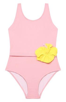 Детского слитный купальник IL GUFO розового цвета, арт. P21CR047N0069/2A-4A | Фото 1