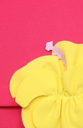Детского слитный купальник IL GUFO фуксия цвета, арт. P21CR047N0069/2A-4A | Фото 3