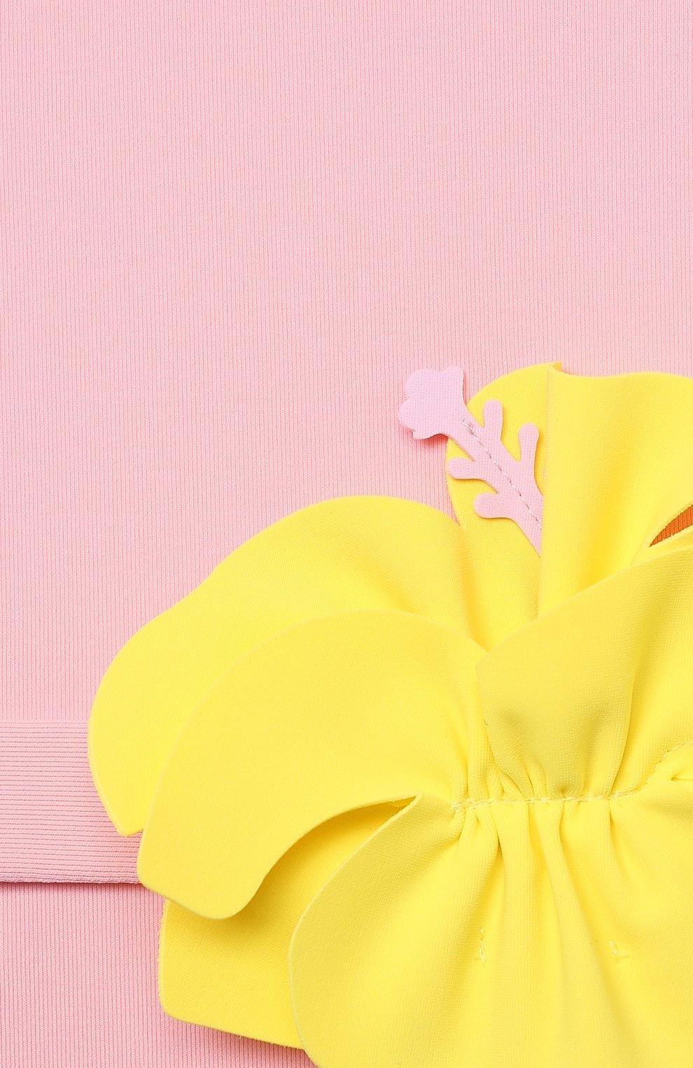 Детского слитный купальник IL GUFO розового цвета, арт. P21CR047N0069/5A-8A | Фото 3