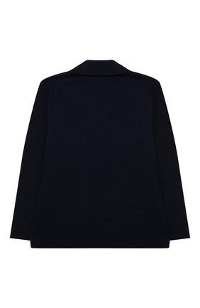 Детский хлопковый пиджак IL GUFO синего цвета, арт. P21GF360EM108/2A-4A | Фото 2 (Рукава: Длинные; Материал внешний: Хлопок; Кросс-КТ: пиджак; Ростовка одежда: 18 мес | 86 см, 2 года | 92 см, 3 года | 98 см)