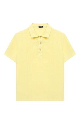 Детское льняное поло IL GUFO желтого цвета, арт. P21PC060L6006/2A-4A | Фото 1