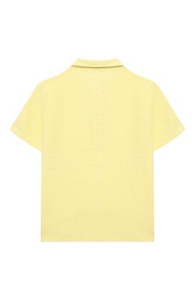 Детское льняное поло IL GUFO желтого цвета, арт. P21PC060L6006/2A-4A | Фото 2