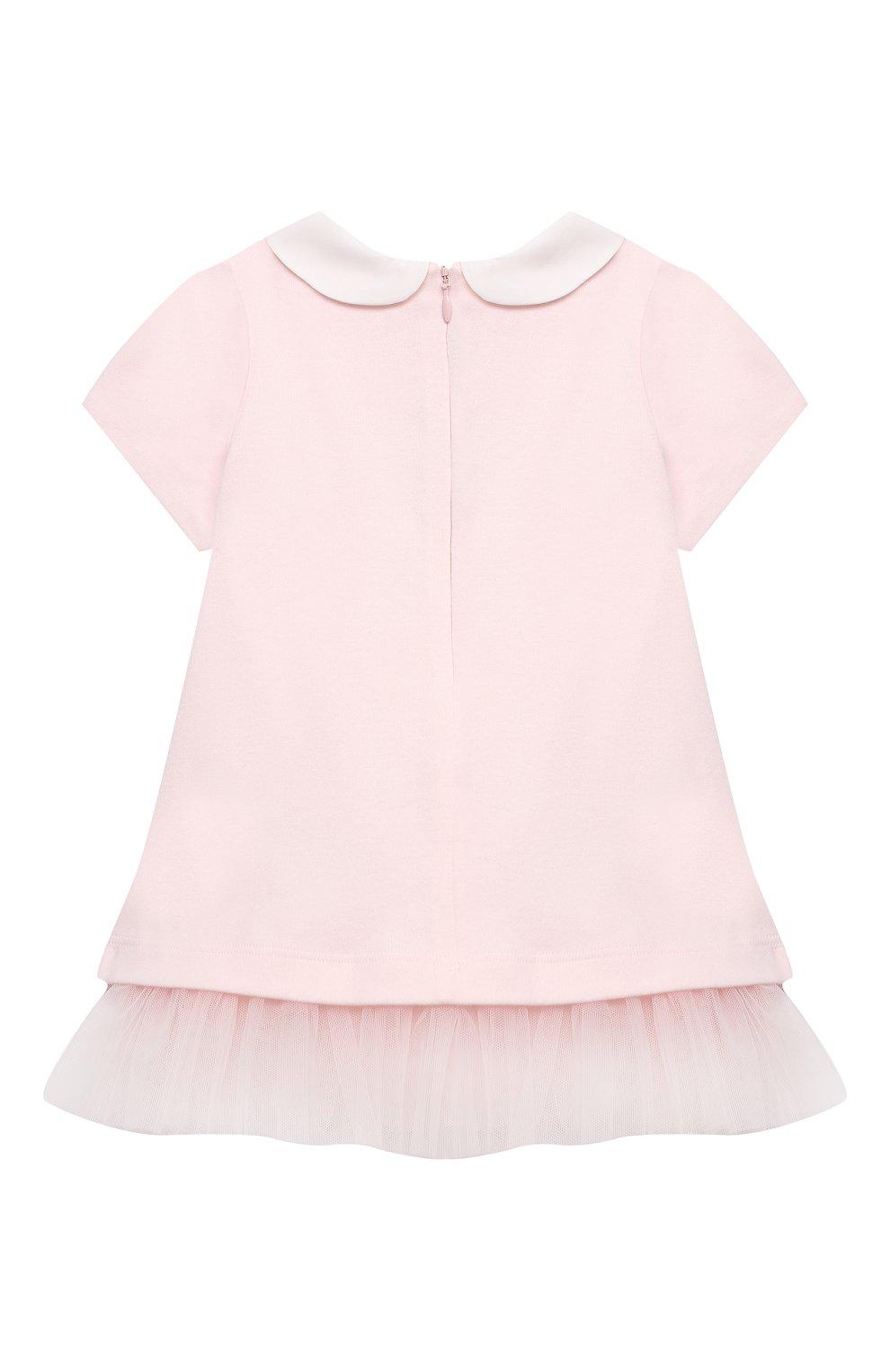 Женский хлопковое платье FENDI розового цвета, арт. BFB325/A8LK/3M-9M | Фото 2