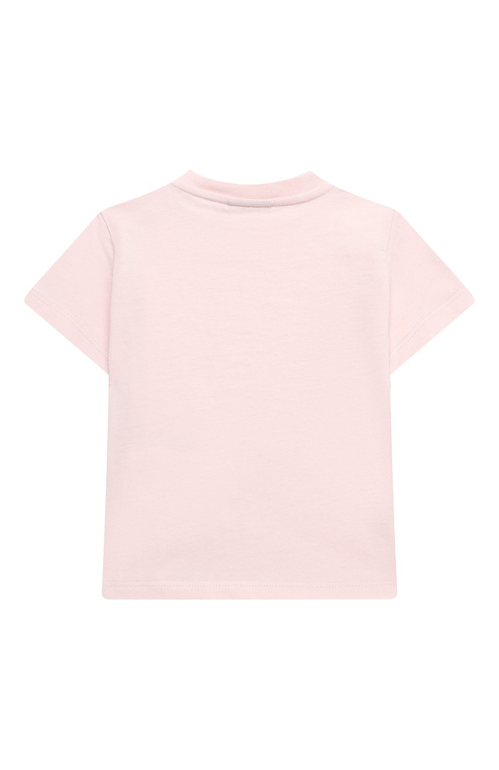 Детский хлопковая футболка FENDI розового цвета, арт. BUI018/ST8/12M-24M | Фото 2
