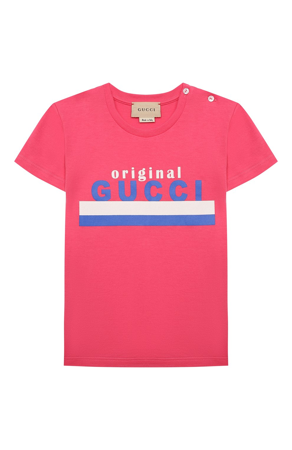 Детский хлопковая футболка GUCCI розового цвета, арт. 548034/XJC7M   Фото 1