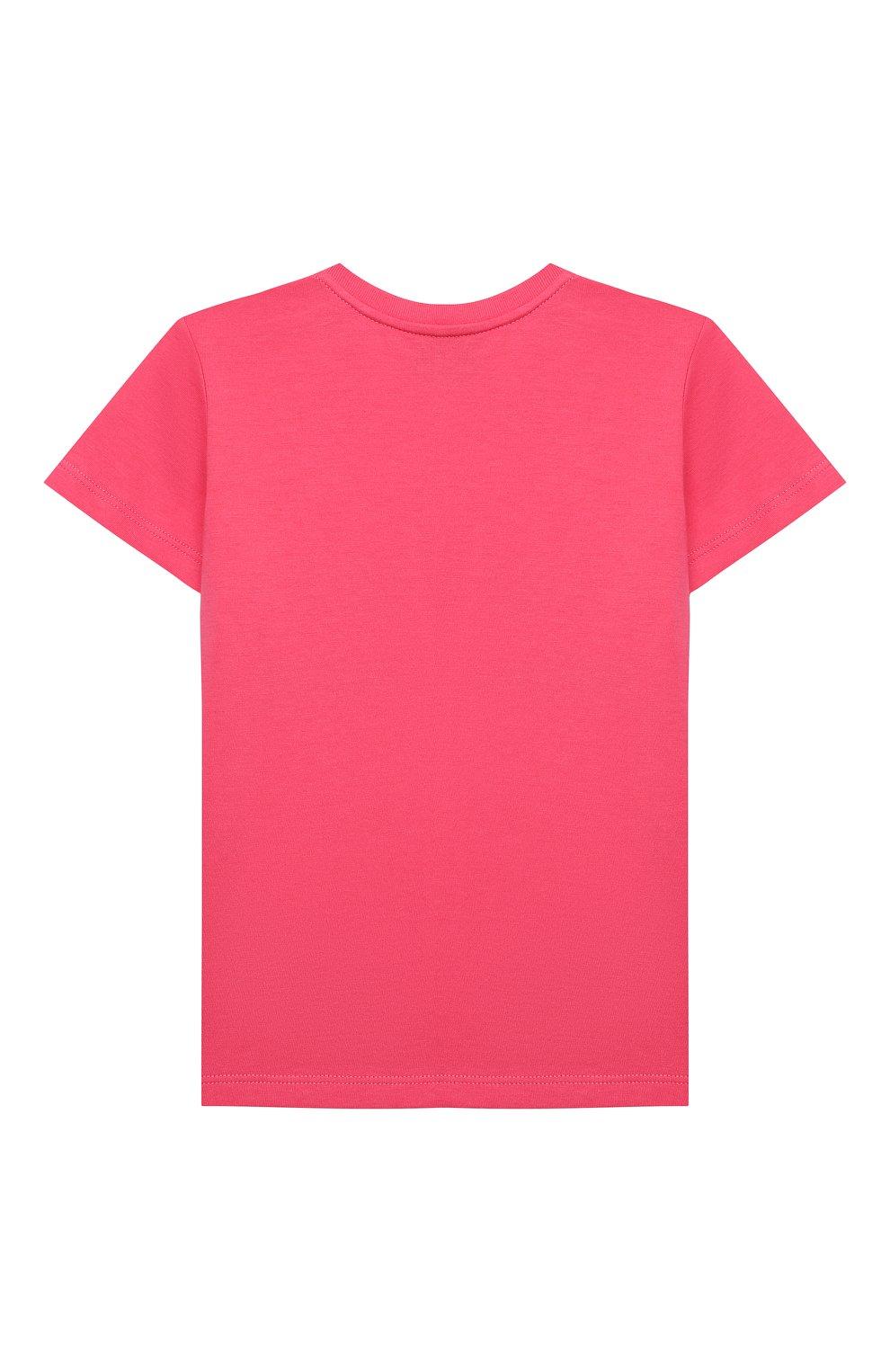 Детский хлопковая футболка GUCCI розового цвета, арт. 548034/XJC7M   Фото 2