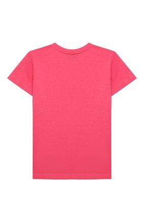 Детская хлопковая футболка GUCCI розового цвета, арт. 561651/XJC7M   Фото 2