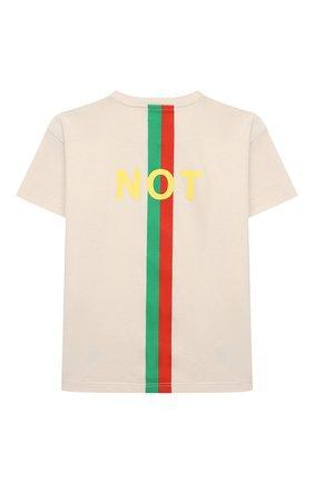 Детский хлопковая футболка GUCCI белого цвета, арт. 576871/XJC7Q | Фото 2