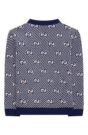 Детский шерстяной пуловер GUCCI синего цвета, арт. 638308/XKBNH | Фото 2
