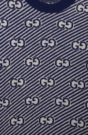 Детский шерстяной пуловер GUCCI синего цвета, арт. 638308/XKBNH | Фото 3