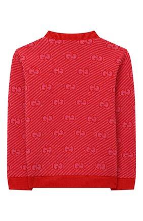 Детский шерстяной пуловер GUCCI красного цвета, арт. 638308/XKBNH | Фото 2