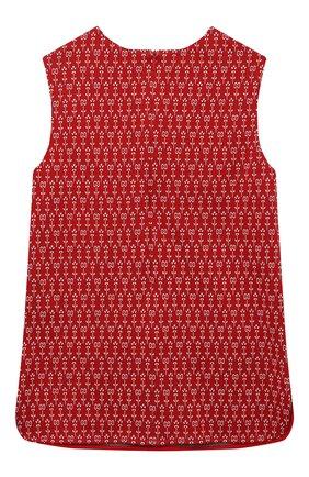 Детский хлопковый жилет GUCCI красного цвета, арт. 642480/XJC94 | Фото 2