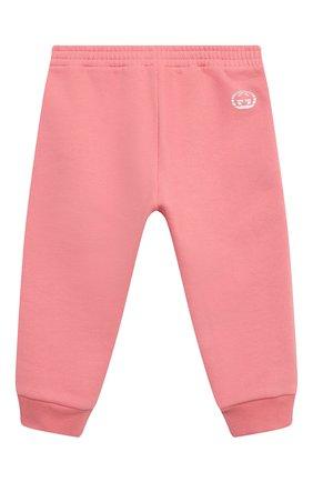 Детские хлопковые джоггеры GUCCI розового цвета, арт. 647903/XJC7B | Фото 1