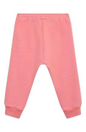 Детские хлопковые джоггеры GUCCI розового цвета, арт. 647903/XJC7B | Фото 2
