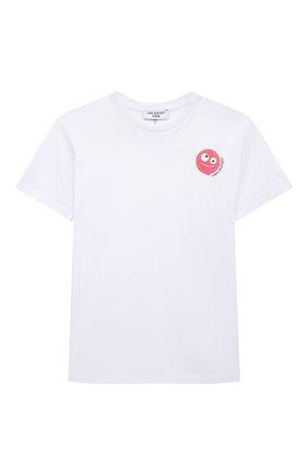 Детская хлопковая футболка NEIL BARRETT KIDS белого цвета, арт. 027903 | Фото 1