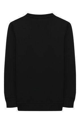 Детский хлопковый свитшот NEIL BARRETT KIDS черного цвета, арт. 027902 | Фото 2