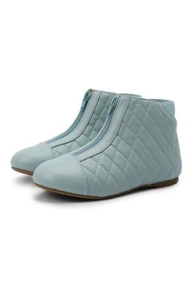 Детские кожаные ботинки AGE OF INNOCENCE голубого цвета, арт. 000143/NIC0LE/29-35 | Фото 1 (Материал внутренний: Натуральная кожа)