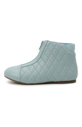 Детские кожаные ботинки AGE OF INNOCENCE голубого цвета, арт. 000143/NIC0LE/29-35 | Фото 2 (Материал внутренний: Натуральная кожа)