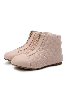 Детские кожаные ботинки AGE OF INNOCENCE розового цвета, арт. 000143/NIC0LE/29-35 | Фото 1