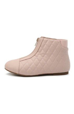Детские кожаные ботинки AGE OF INNOCENCE розового цвета, арт. 000143/NIC0LE/29-35 | Фото 2
