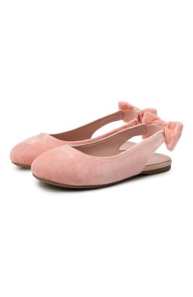 Детские вельветовые балетки AGE OF INNOCENCE розового цвета, арт. 000182/AMELIE/25-36 | Фото 1