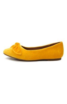 Детские вельветовые балетки AGE OF INNOCENCE желтого цвета, арт. 000206/P0PPY/32-38 | Фото 2 (Материал внутренний: Натуральная кожа; Материал внешний: Текстиль)