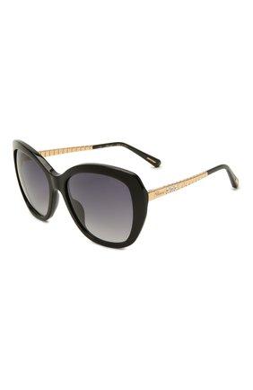 Женские солнцезащитные очки CHOPARD черного цвета, арт. 259S 700 | Фото 1