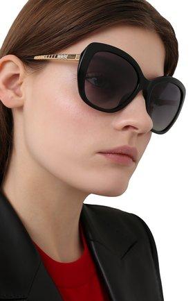 Женские солнцезащитные очки CHOPARD черного цвета, арт. 259S 700 | Фото 2