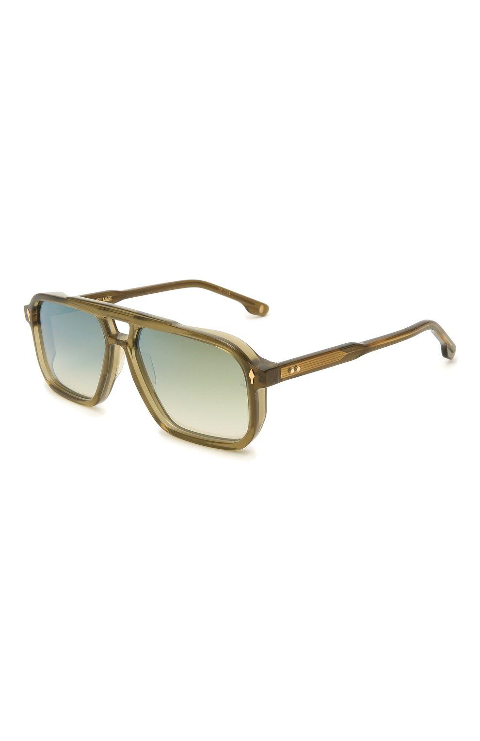 Мужские солнцезащитные очки JACQUES MARIE MAGE хаки цвета, арт. FELS0N JMMFN-3N   Фото 1 (Тип очков: С/з; Очки форма: Прямоугольные; Оптика Гендер: оптика-мужское)