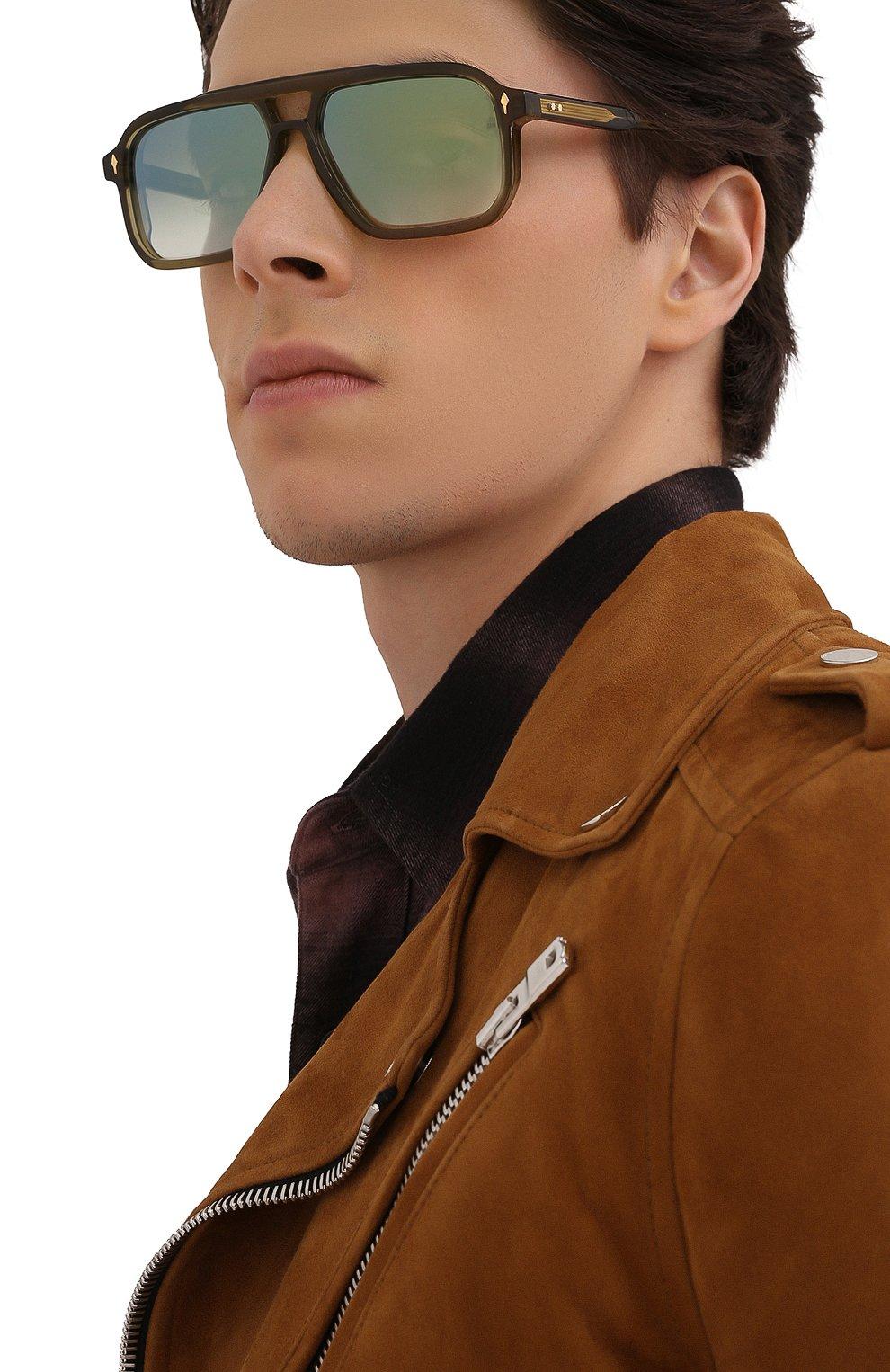 Мужские солнцезащитные очки JACQUES MARIE MAGE хаки цвета, арт. FELS0N JMMFN-3N   Фото 2 (Тип очков: С/з; Очки форма: Прямоугольные; Оптика Гендер: оптика-мужское)