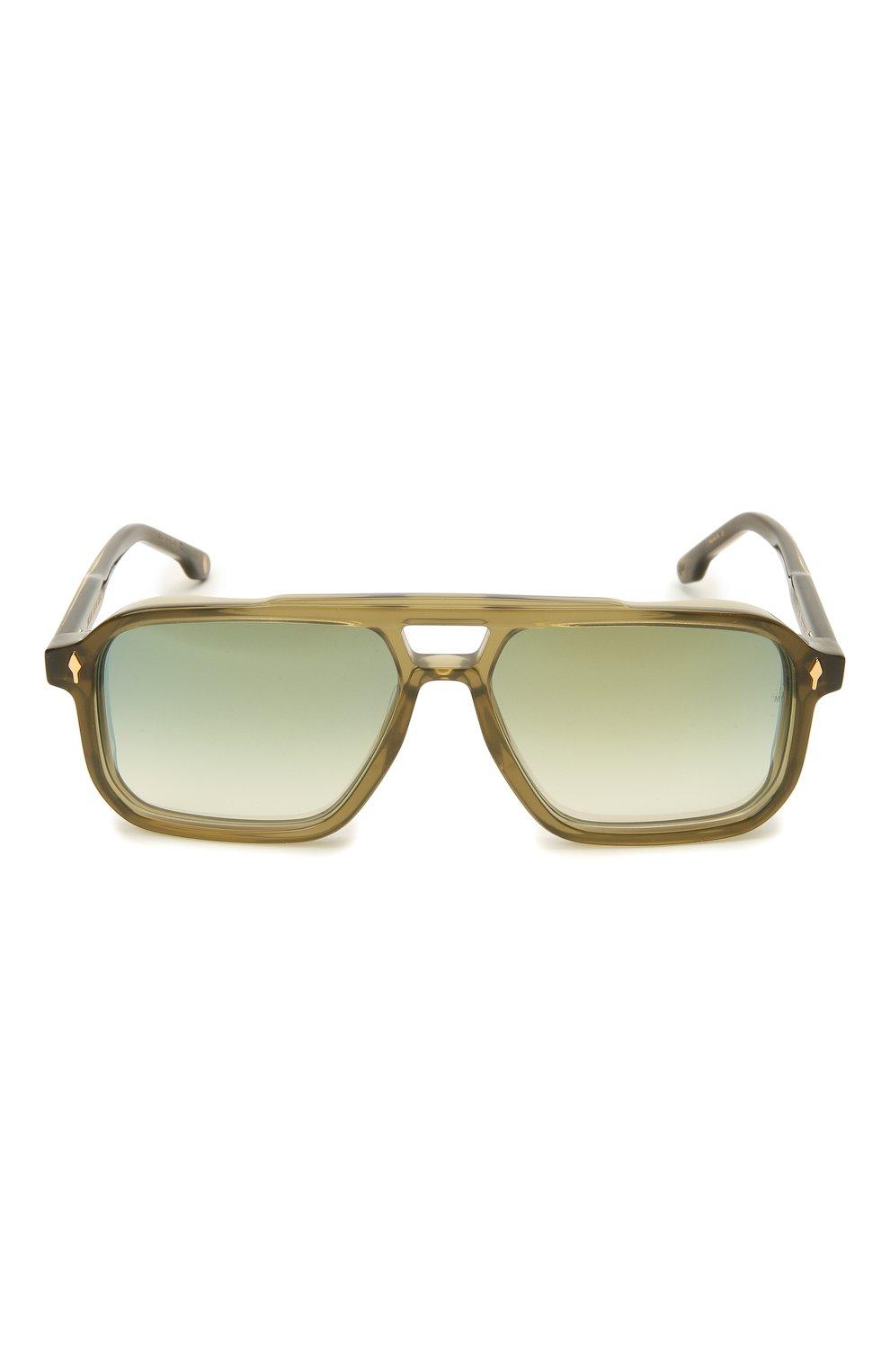Мужские солнцезащитные очки JACQUES MARIE MAGE хаки цвета, арт. FELS0N JMMFN-3N   Фото 3 (Тип очков: С/з; Очки форма: Прямоугольные; Оптика Гендер: оптика-мужское)