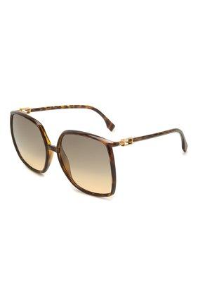 Женские солнцезащитные очки FENDI коричневого цвета, арт. 0431/G 086   Фото 1