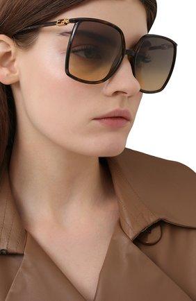 Женские солнцезащитные очки FENDI коричневого цвета, арт. 0431/G 086   Фото 2