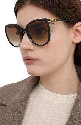 Женские солнцезащитные очки FENDI черного цвета, арт. 0432/G 807   Фото 2