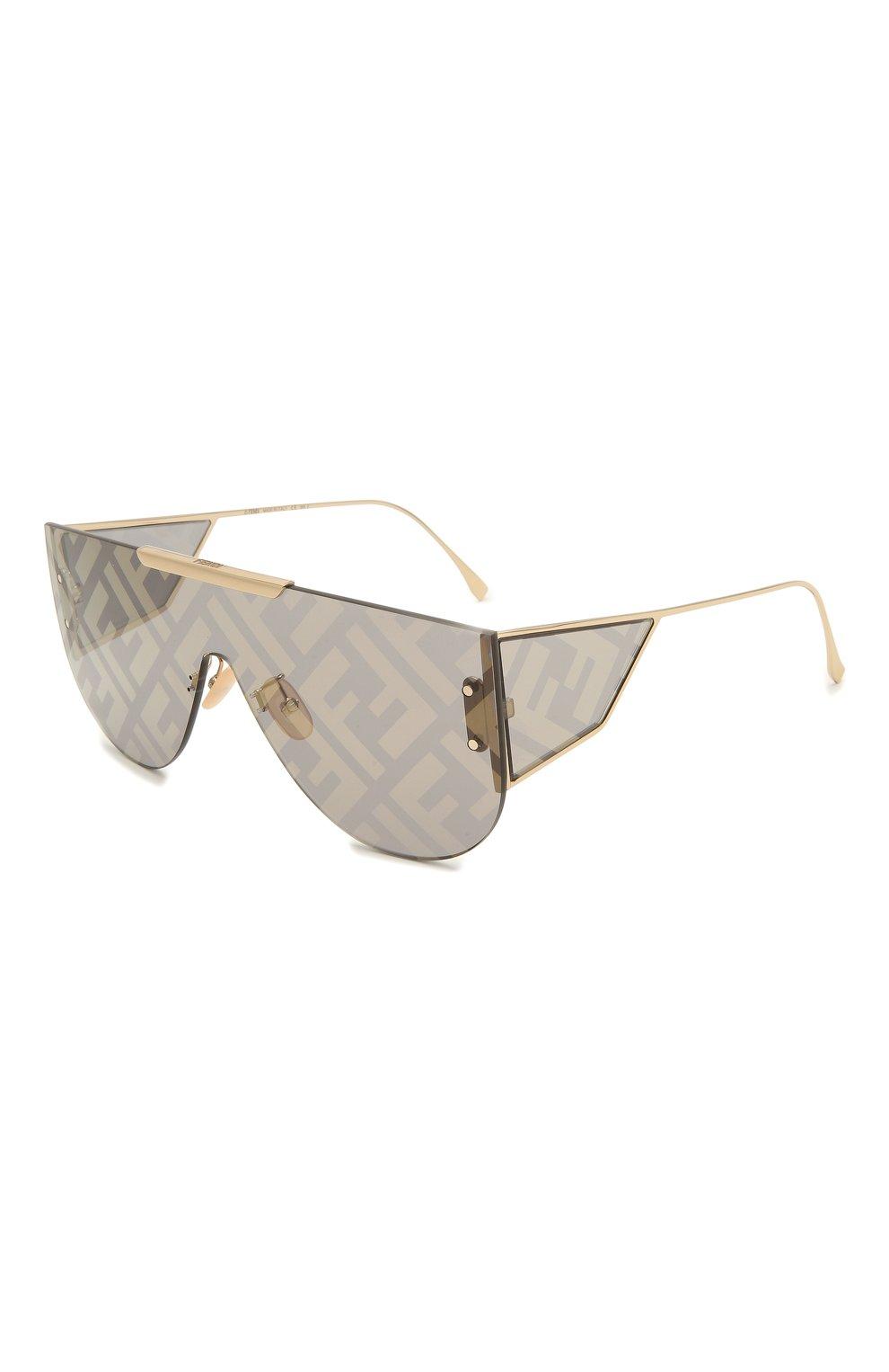 Женские солнцезащитные очки FENDI золотого цвета, арт. M0093 J5G | Фото 1