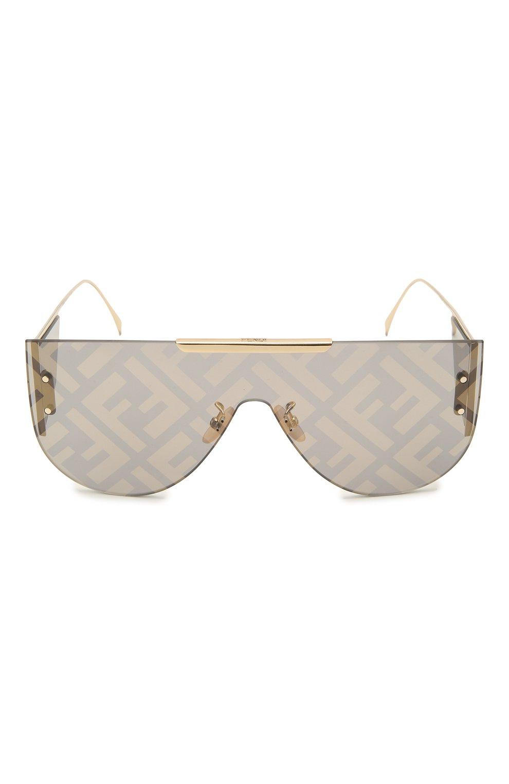 Женские солнцезащитные очки FENDI золотого цвета, арт. M0093 J5G | Фото 4