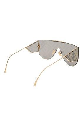 Женские солнцезащитные очки FENDI золотого цвета, арт. M0093 J5G | Фото 5