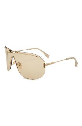 Женские солнцезащитные очки FENDI золотого цвета, арт. M0098 84E   Фото 1