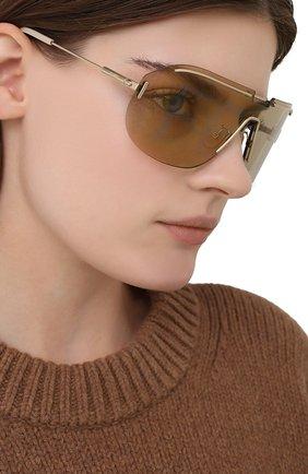 Женские солнцезащитные очки FENDI золотого цвета, арт. M0098 84E   Фото 2