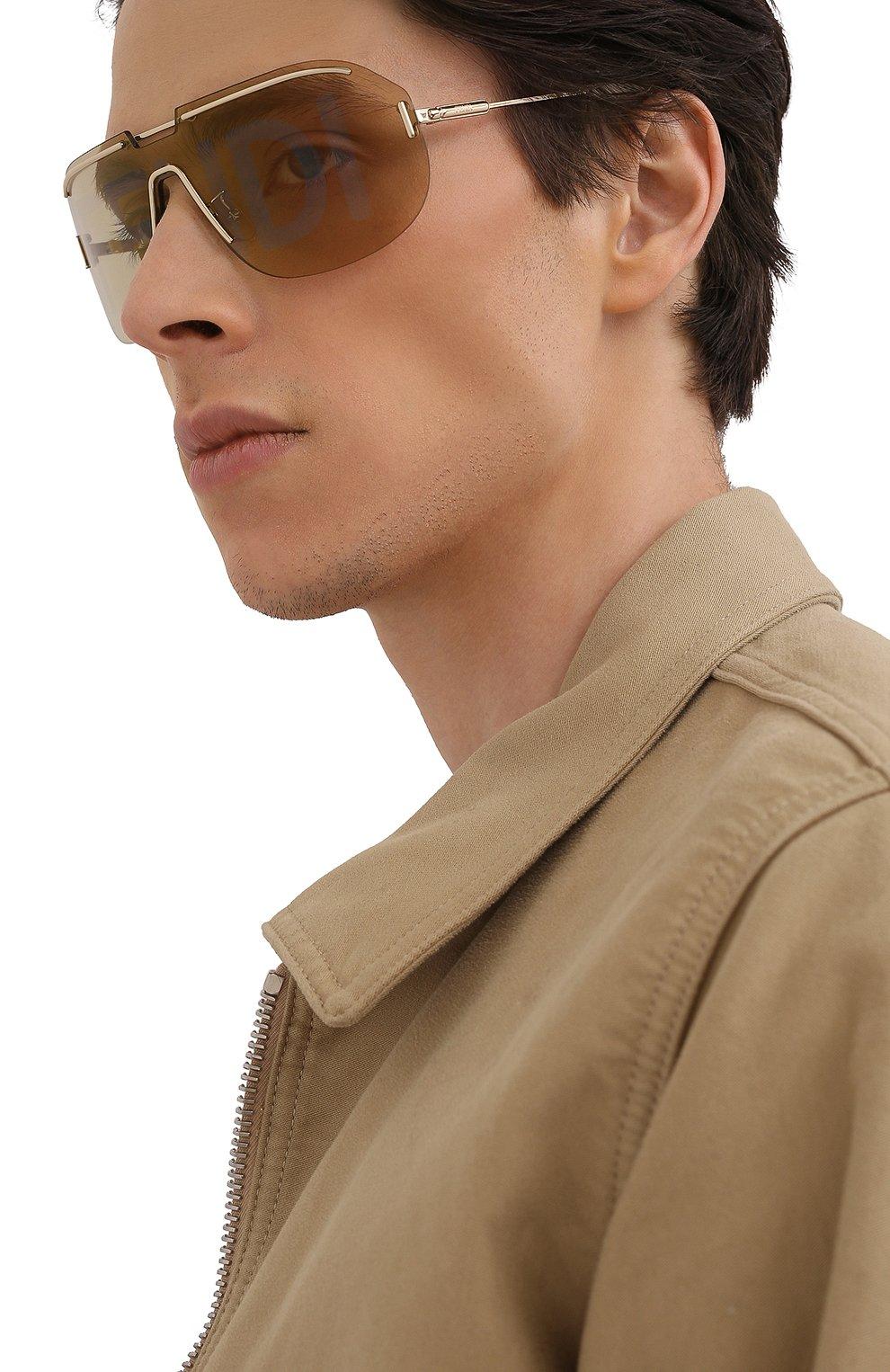 Женские солнцезащитные очки FENDI золотого цвета, арт. M0098 84E   Фото 3
