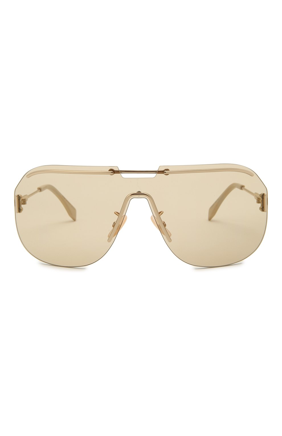 Женские солнцезащитные очки FENDI золотого цвета, арт. M0098 84E   Фото 4