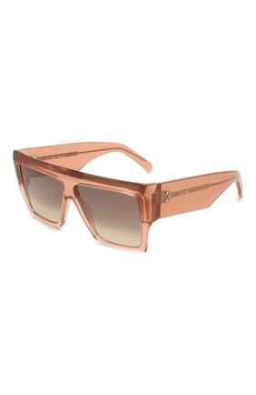 Женские солнцезащитные очки CELINE EYEWEAR розового цвета, арт. CL40092I 74F | Фото 1
