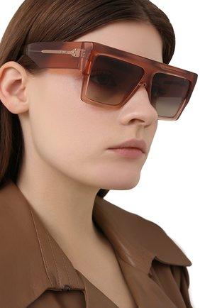 Женские солнцезащитные очки CELINE EYEWEAR розового цвета, арт. CL40092I 74F | Фото 2