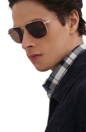 Мужские солнцезащитные очки TOM FORD золотого цвета, арт. TF815 28E | Фото 2 (Оптика Гендер: оптика-мужское; Очки форма: Прямоугольные)
