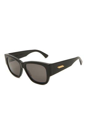Женские солнцезащитные очки BOTTEGA VENETA черного цвета, арт. BV1026S 001 | Фото 1