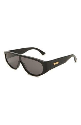 Женские солнцезащитные очки BOTTEGA VENETA черного цвета, арт. BV1027S 001 | Фото 1